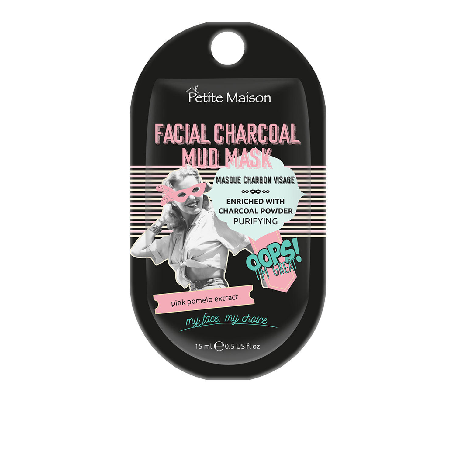 Petite Maison Facial Charcoal Mud Mask Mini